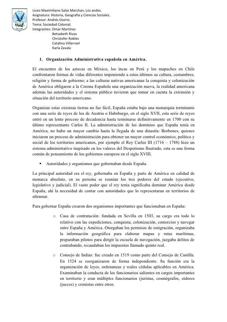 Liceo Maximiliano Salas Marchan, Los andes. Asignatura: Historia, Geografía y Ciencias Sociales. Profesor: Andrés Osorio. ...