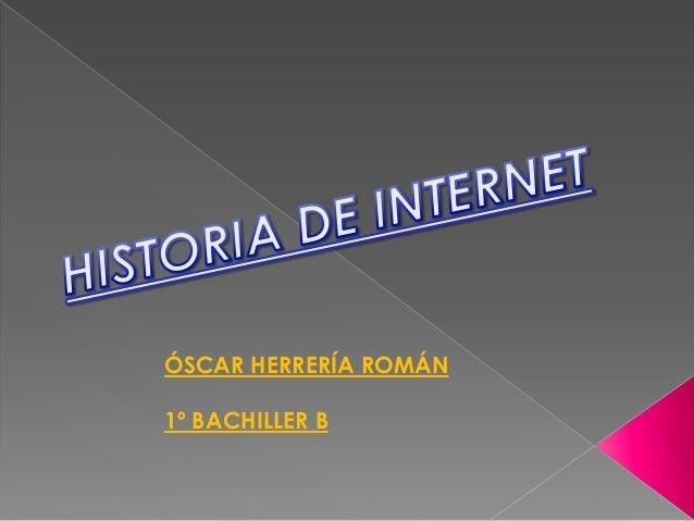 ÓSCAR HERRERÍA ROMÁN1º BACHILLER B