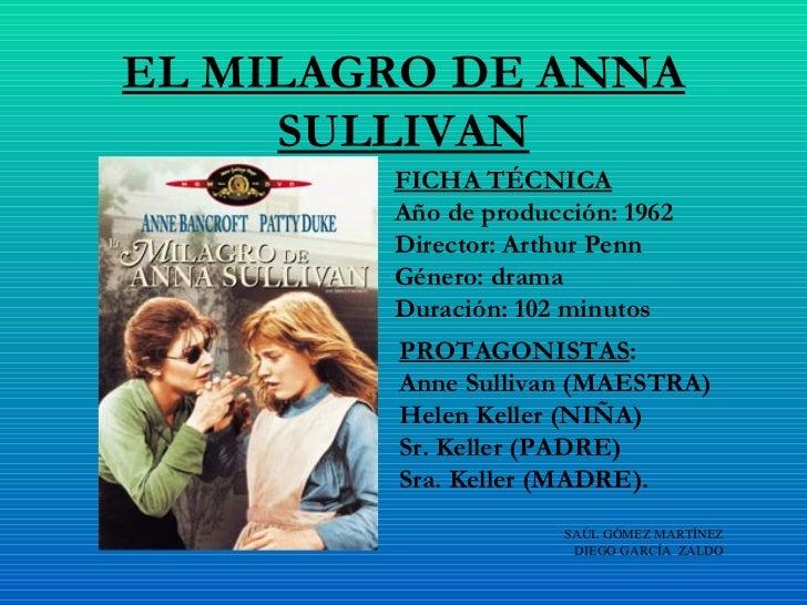 el milagro de anna sullivan: