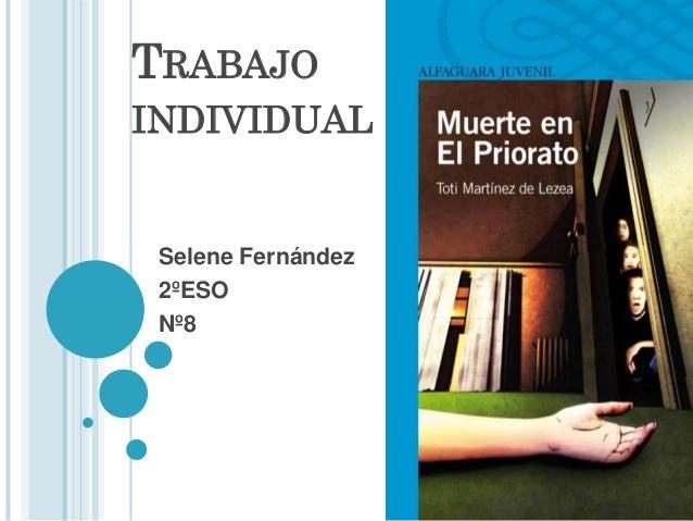 Trabajo individual, Selene Fernández