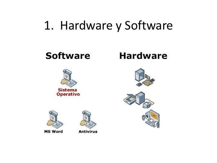 1.  Hardware y Software<br />