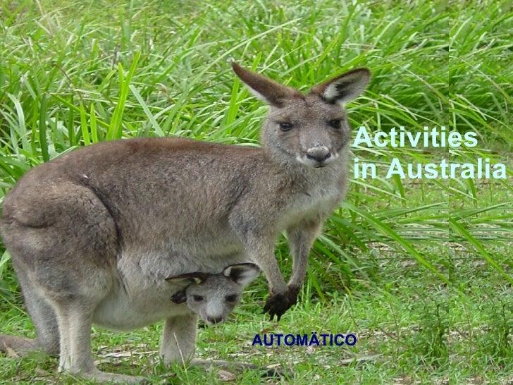 Activities in Australia AUTOMÄTICO