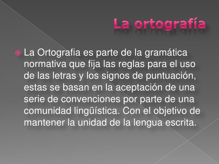 Ortograf A Signos De Puntuaci N Uso De Letras