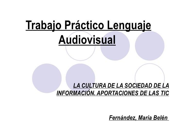 Trabajo lenguaje audiovisual.