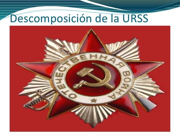 Descomposición de la URSS