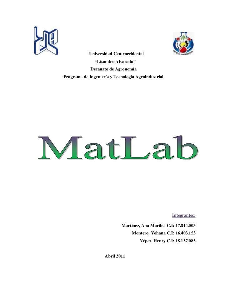 Trabajo matlab