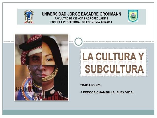 UNIVERSIDAD JORGE BASADRE GROHMANN FACULTAD DE CIENCIAS AGROPECUARIAS ESCUELA PROFESIONAL DE ECONOMÍA AGRARIA TRABAJO Nª3 ...