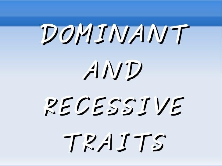 Trabajo naturales dominat and recessive genes.