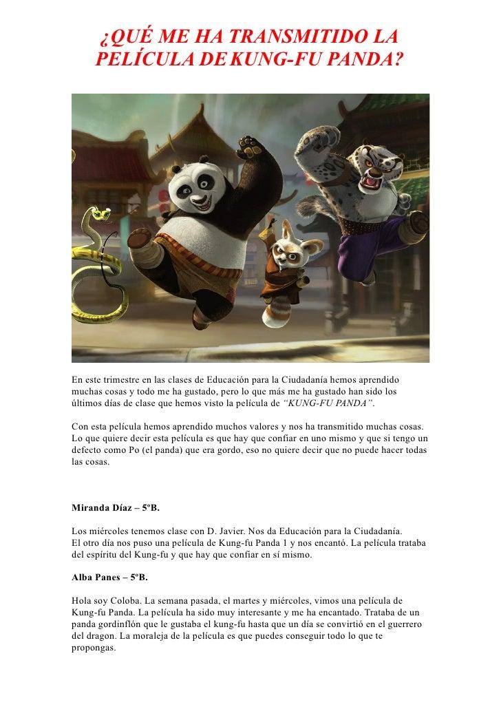 Trabajo para la web alumnos 5ºb   kungfu panda