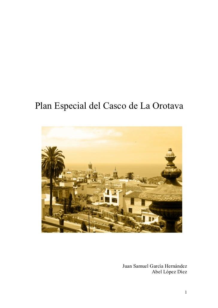 Trabajo Plan Especial de Protección del Centro Histórico de La Orotava