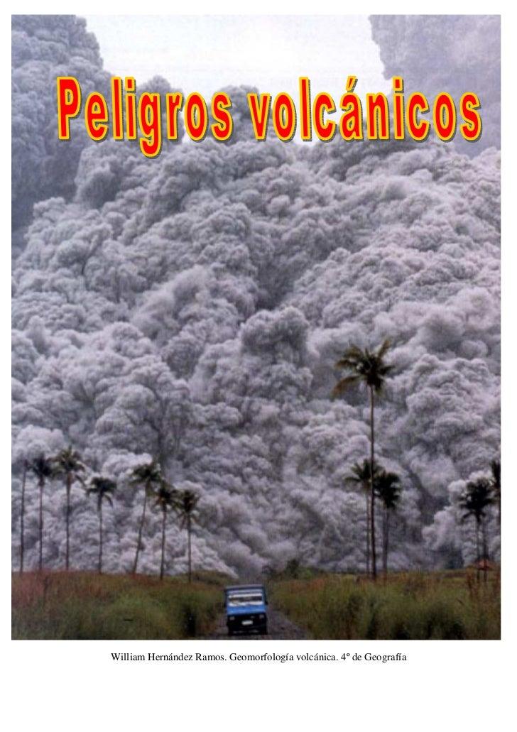 Trabajo peligros volcánicos