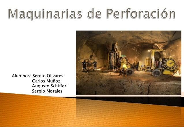 Alumnos: Sergio Olivares         Carlos Muñoz         Augusto Schifferli         Sergio Morales