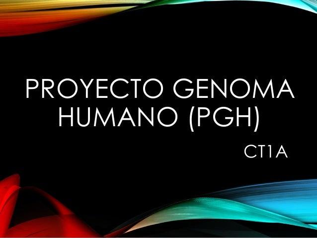 PROYECTO GENOMA HUMANO (PGH) CT1A