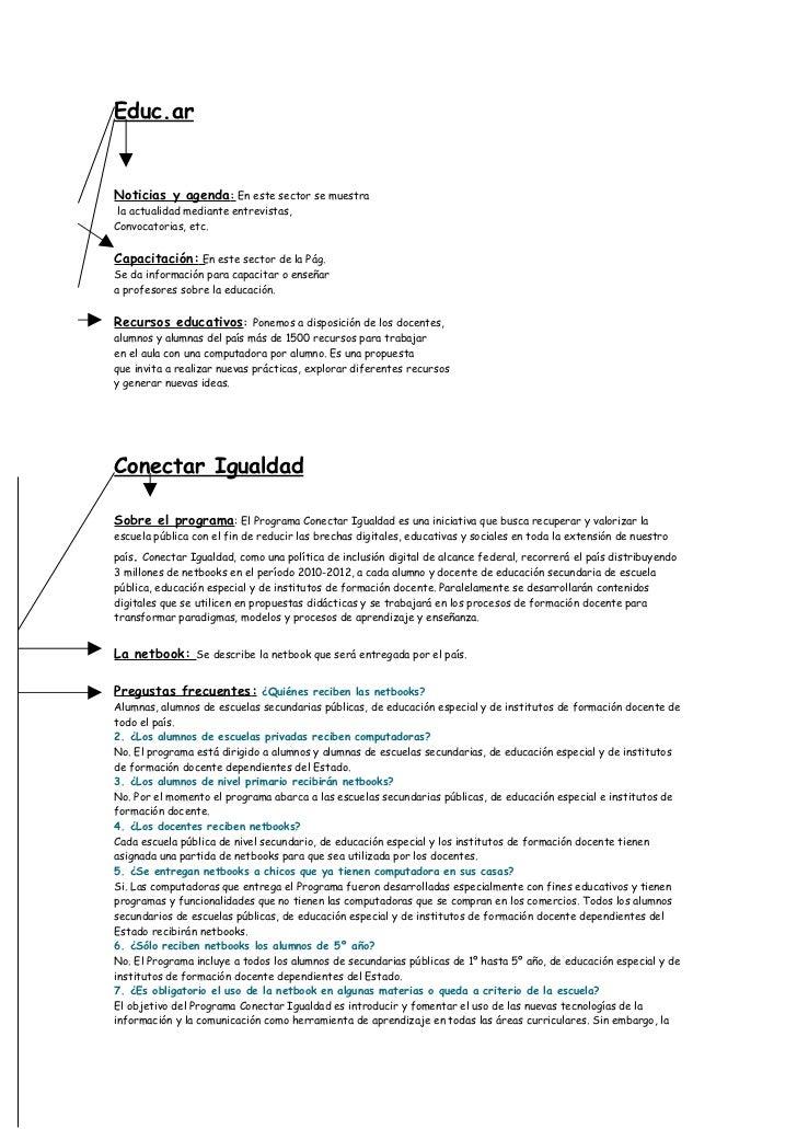 Educ.arNoticias y agenda: En este sector se muestra la actualidad mediante entrevistas,Convocatorias, etc.Capacitación: En...