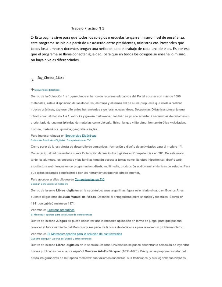 Trabajo Practico N 12- Esta pagina sirve para que todos los colegios o escuelas tengan el mismo nivel de enseñanza,este pr...