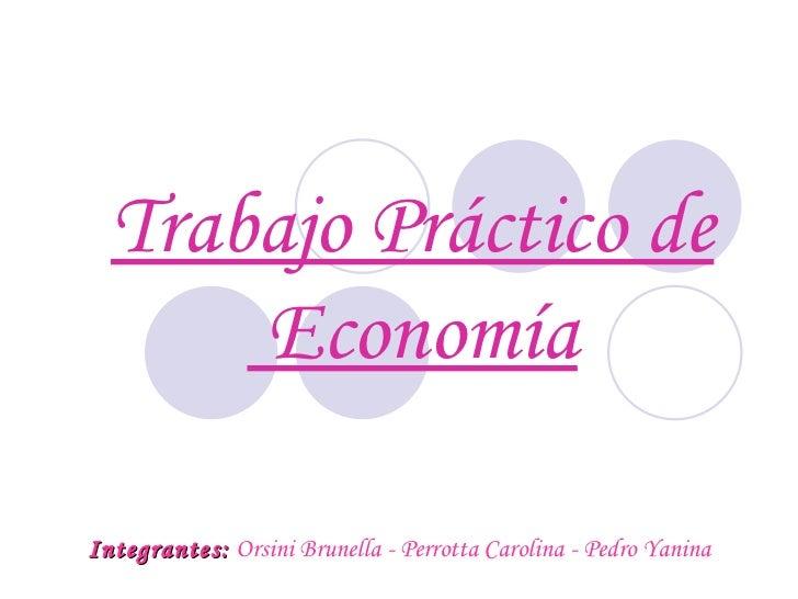 Trabajo Práctico de Economía