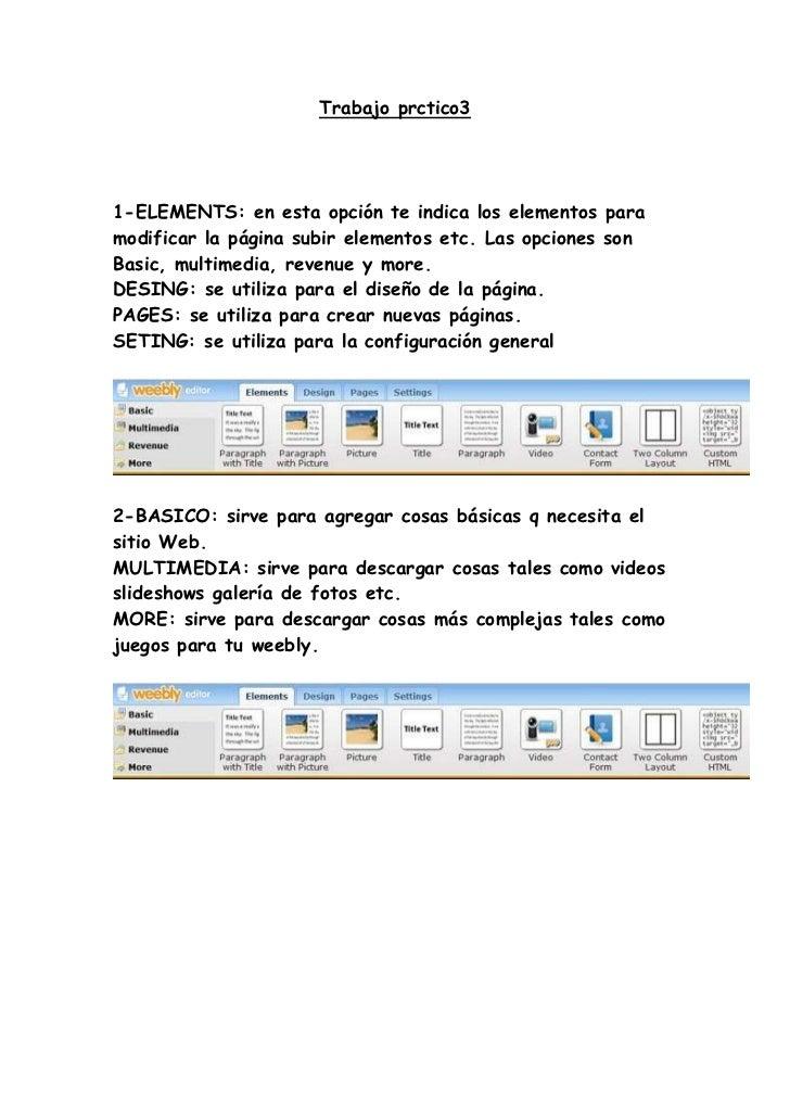 Trabajo prctico31-ELEMENTS: en esta opción te indica los elementos paramodificar la página subir elementos etc. Las opcion...