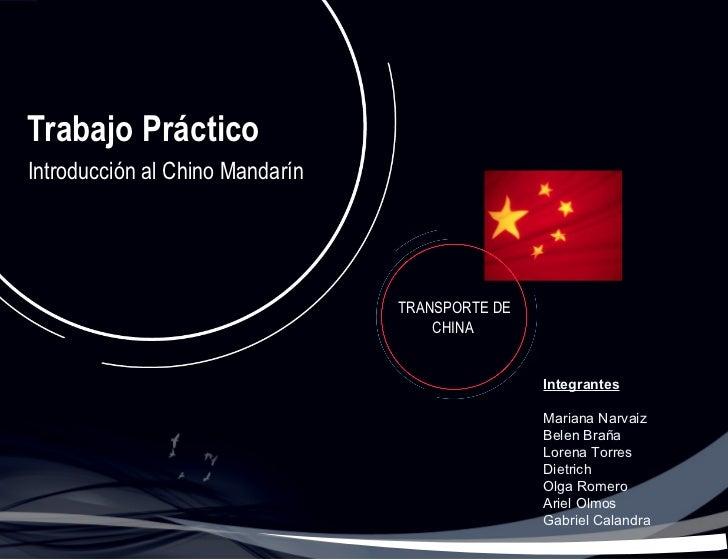 Medios de Transporte de China
