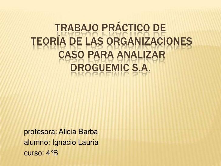 Trabajo práctico integrador de teoria de las org.