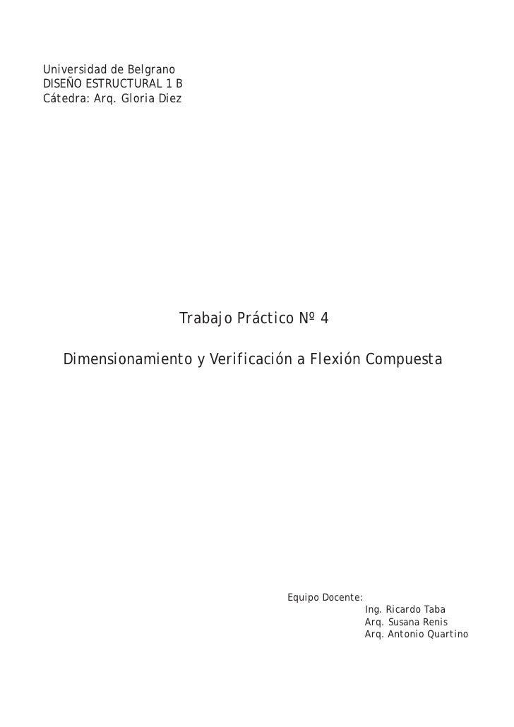Trabajo práctico nº4   flexión compuesta