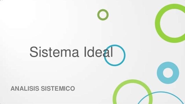 Sistema IdealANALISIS SISTEMICO