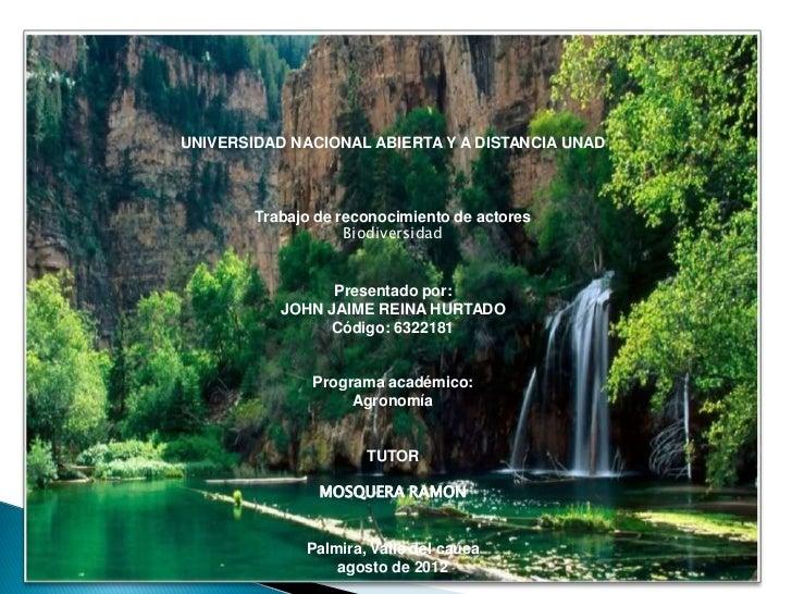 Trabajo reconocimiento de actores de biodiversidad