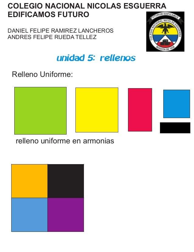 COLEGIO NACIONAL NICOLAS ESGUERRA EDIFICAMOS FUTURO DANIEL FELIPE RAMIREZ LANCHEROS ANDRES FELIPE RUEDA TELLEZ unidad 5: r...