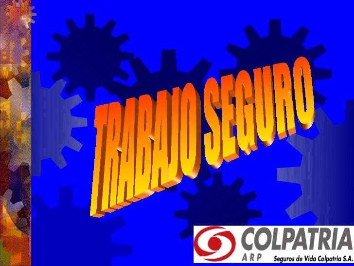 TRABAJO SEGUROLA IDENTIFICACION DEL AREA DE TRABAJO  DE SUS RIESGOS ES IMPORTANTE PARA  LOGRAR EL TRABAJO CON SEGURIDAD , ...