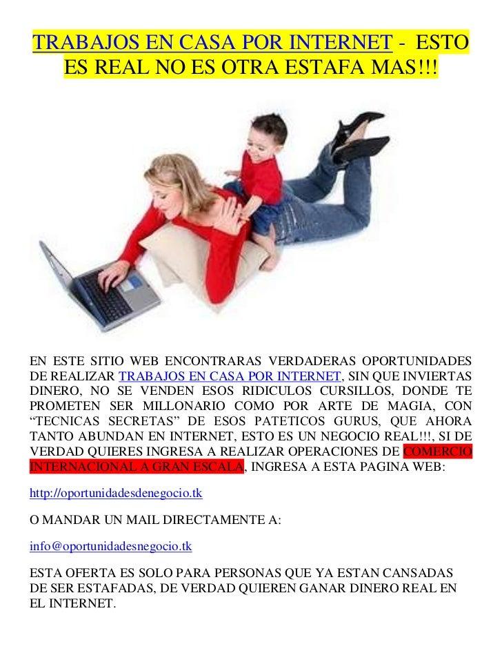Trabajos en casa por internet 1