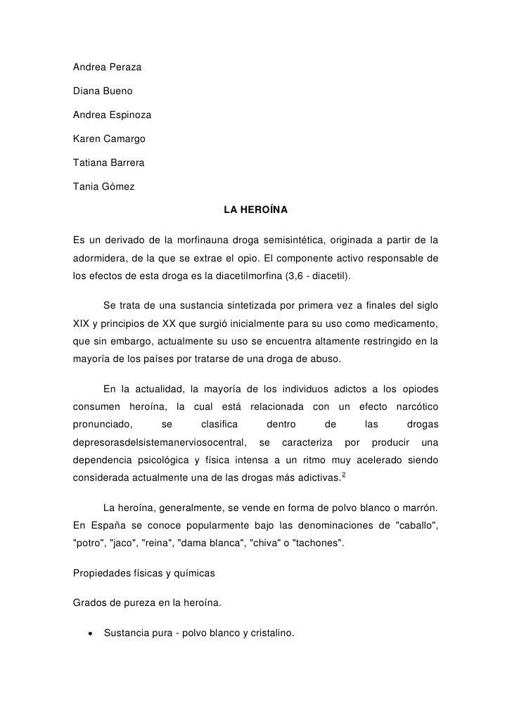 Andrea PerazaDiana BuenoAndrea EspinozaKaren CamargoTatiana BarreraTania Gómez                                   LA HEROÍN...