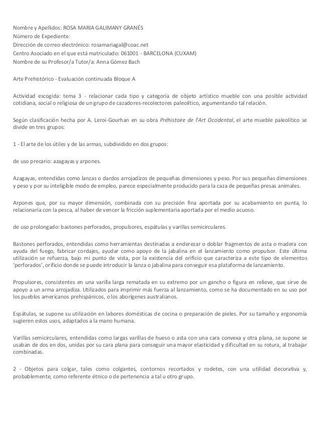 Nombre y Apellidos: ROSA MARIA GALIMANY GRANÉS Número de Expediente: Dirección de correo electrónico: rosamariagal@coac.ne...