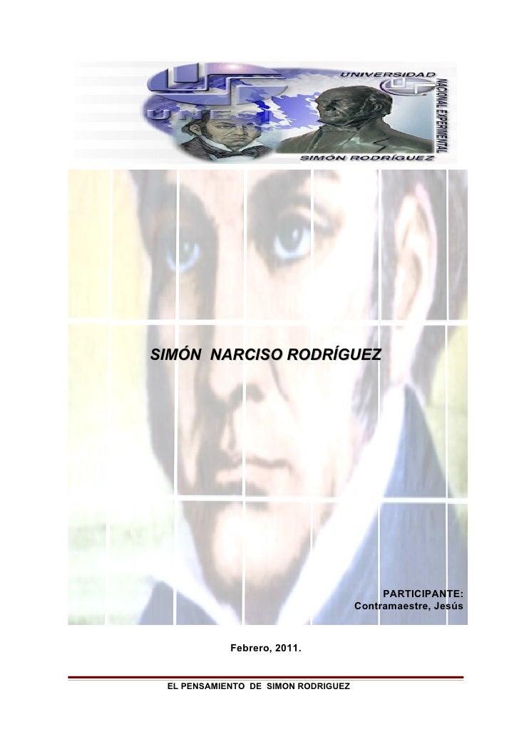 SIMÓN NARCISO RODRÍGUEZ                                          PARTICIPANTE:                                     Contram...