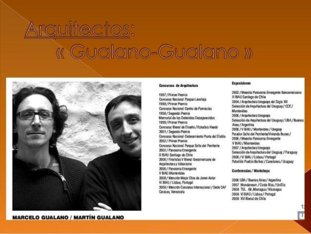  MARTIN GUALANO / 1969 (Uruguay). Docente Adjunto de Proyectos Gr. 3 de la Facultad de Arquitectura de la UdelaR ( Tal...