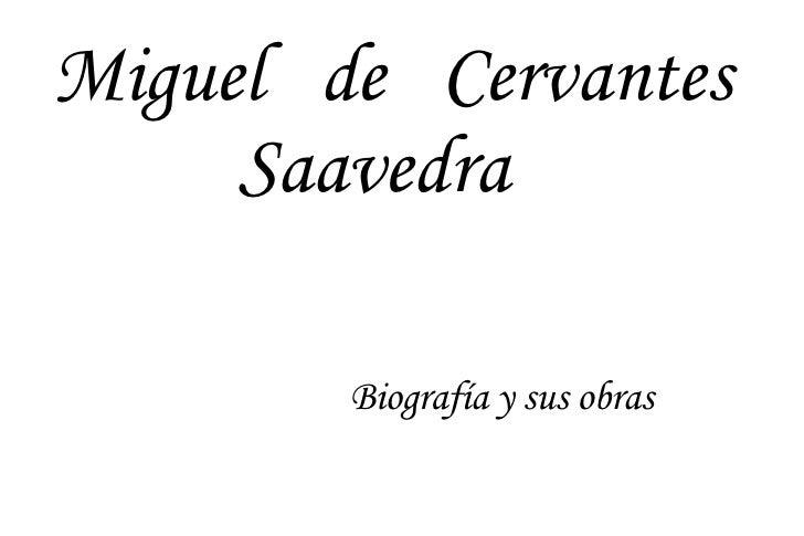 Trabajo Sobre Miguel De Cervantes
