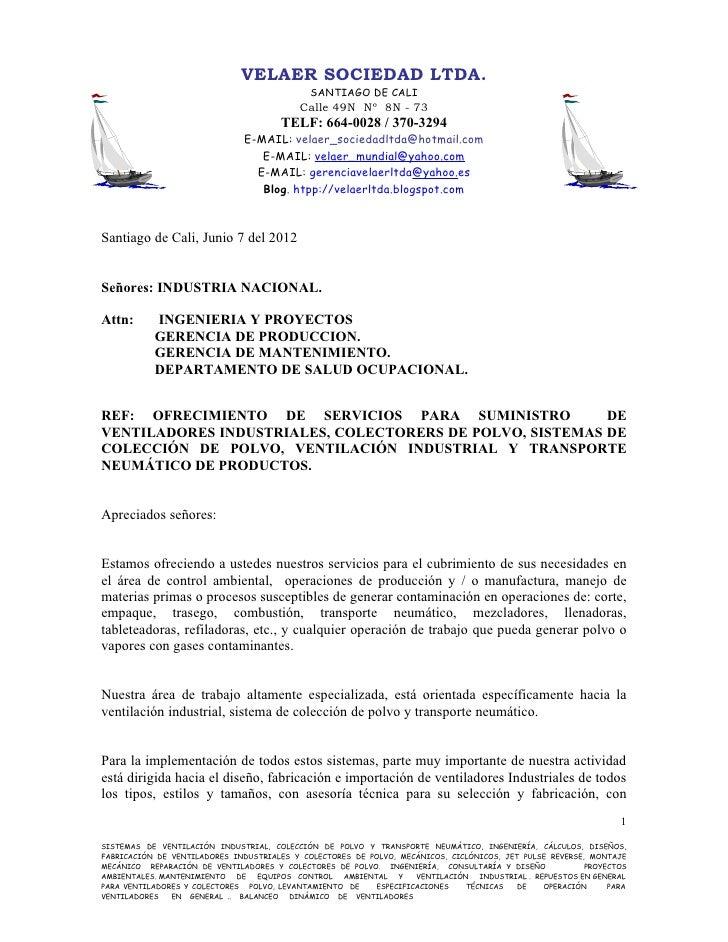 VELAER SOCIEDAD LTDA.                                             SANTIAGO DE CALI                                        ...
