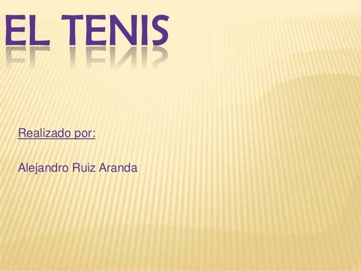 Trabajo tenis.alejandro