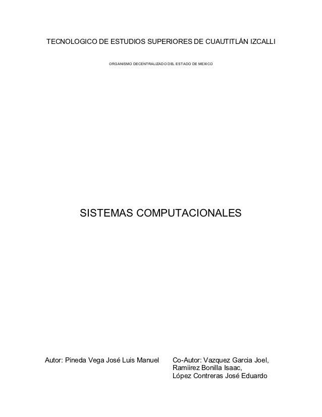 TECNOLOGICO DE ESTUDIOS SUPERIORES DE CUAUTITLÁN IZCALLI                      ORGANISMO DECENTRALIZADO DEL ESTADO DE MEXIC...