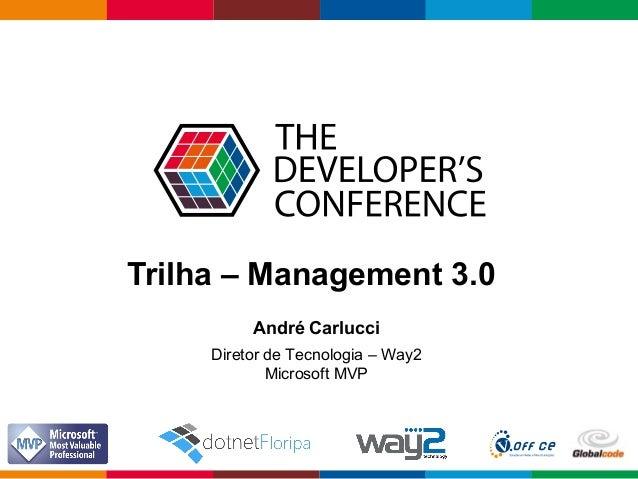 Globalcode – Open4education Trilha – Management 3.0 André Carlucci Diretor de Tecnologia – Way2 Microsoft MVP