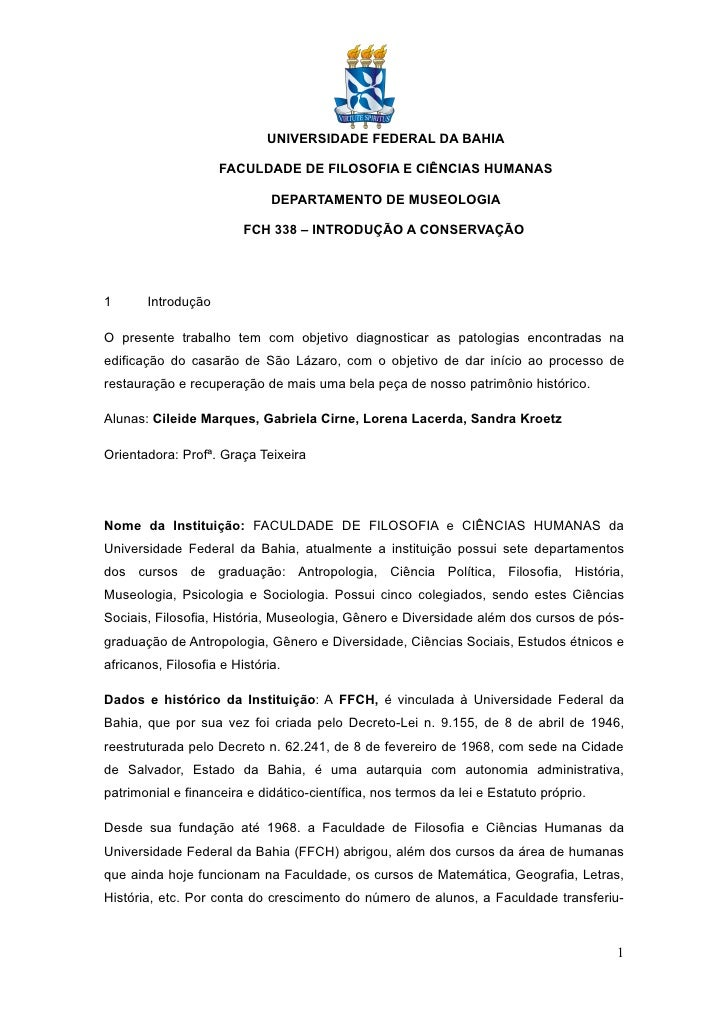 Trabalho Diagnostico Sao Lazaro