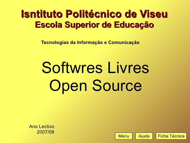 softwares livres - open source