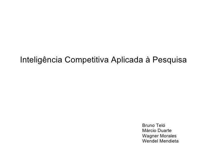 Trabalho Inteligencia Competitiva