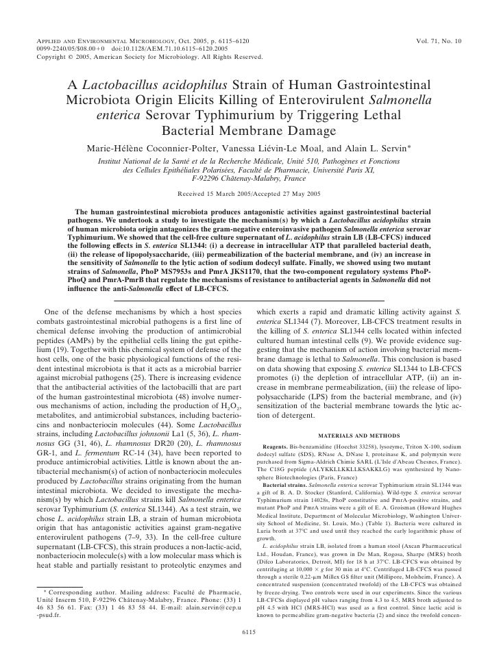 APPLIED AND ENVIRONMENTAL MICROBIOLOGY, Oct. 2005, p. 6115–6120                                                           ...