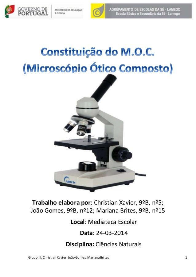 Constituição do Microscópio Ótico Composto