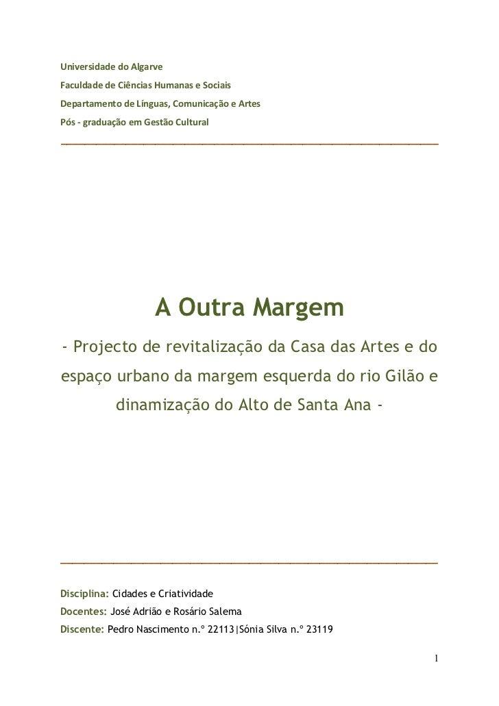 Universidade do Algarve Faculdade de Ciências Humanas e Sociais Departamento de Línguas, Comunicaç...