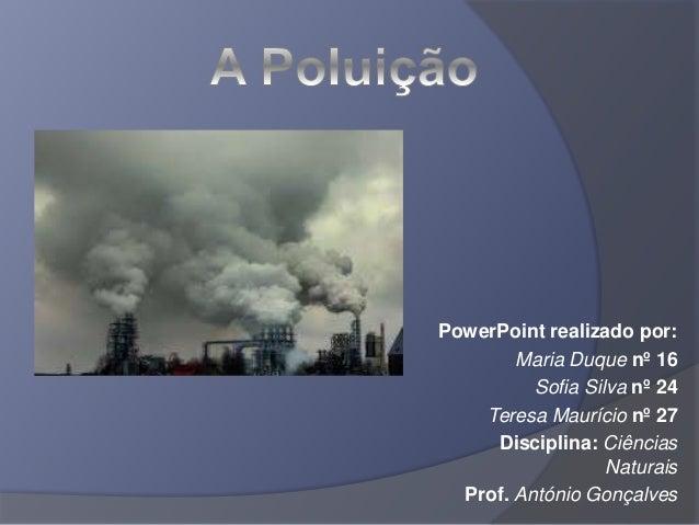 Trabalho de ciencias poluição