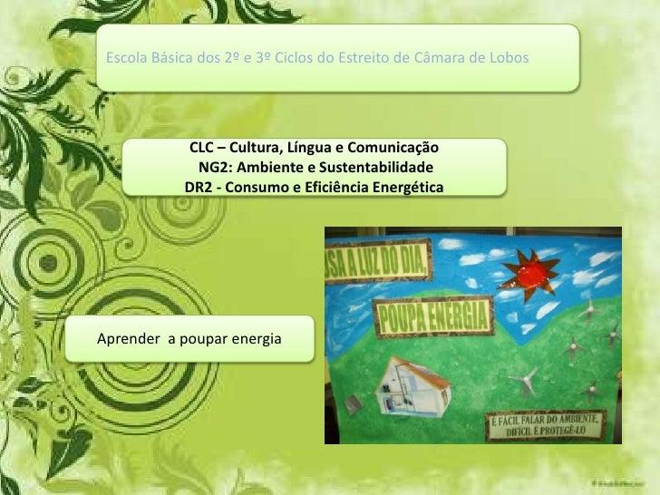 Escola Básica dos 2º e 3º Ciclos do Estreito de Câmara de Lobos<br />CLC – Cultura, Língua e Comunicação<br /> NG2: Ambien...