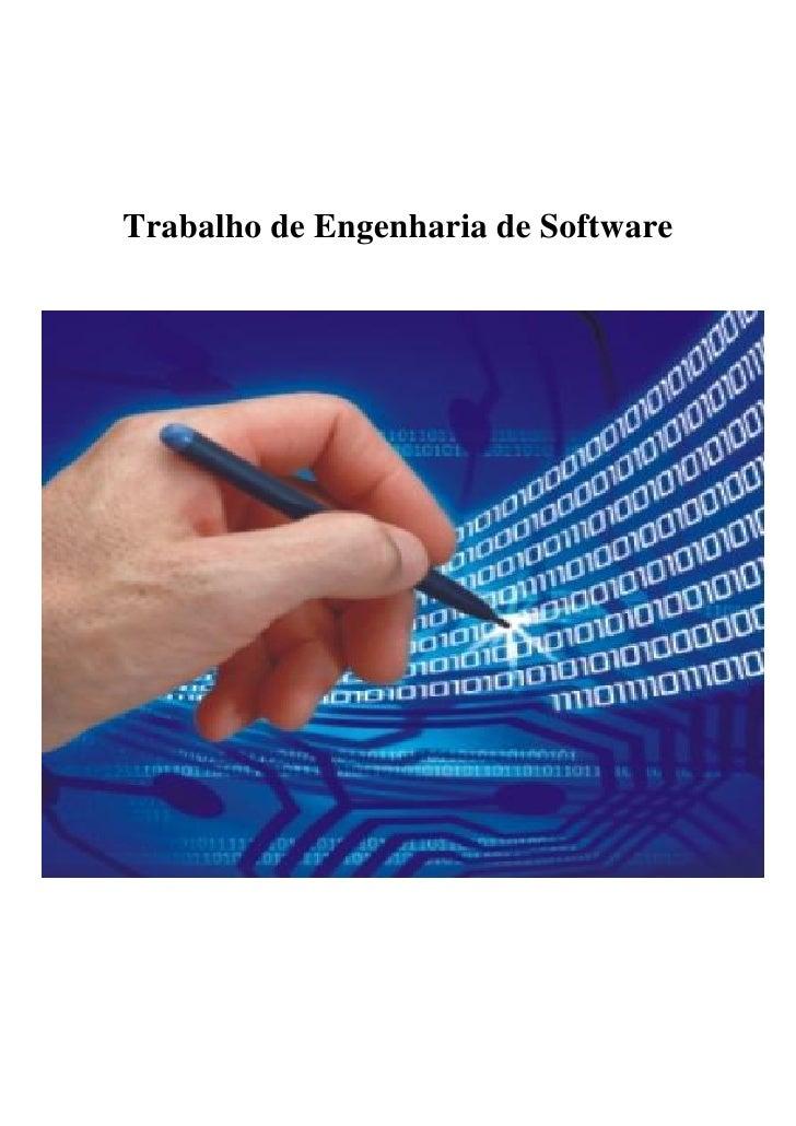 Trabalho de Engenharia de Software