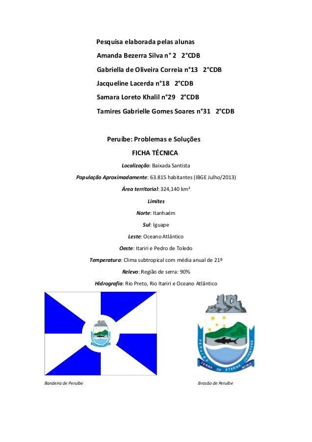 Pesquisa elaborada pelas alunas Amanda Bezerra Silva n° 2 2°CDB Gabriella de Oliveira Correia n°13 2°CDB Jacqueline Lacerd...