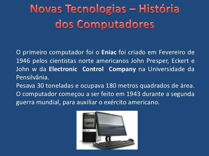 Evuloção dos Computadores