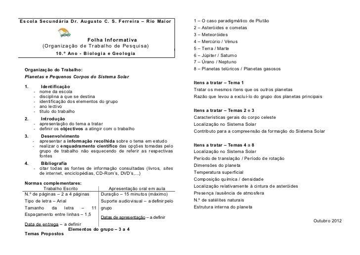 Escola Secundária Dr. Augusto C. S. Ferreira – Rio Maior                       1 – O caso paradigmático de Plutão         ...